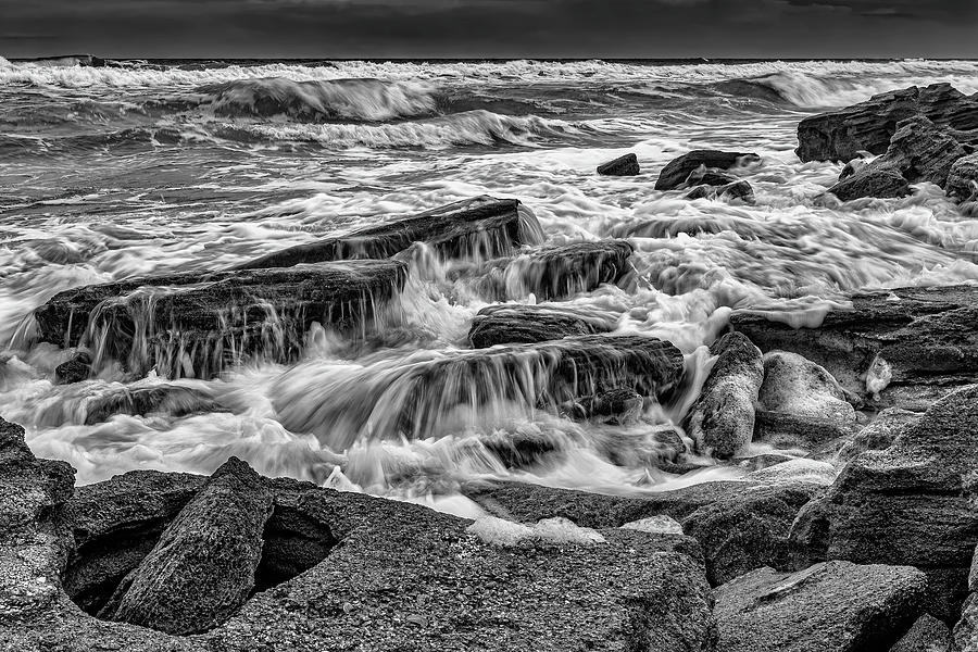 Stormy Rocks on Florida Beach by Charles LeRette