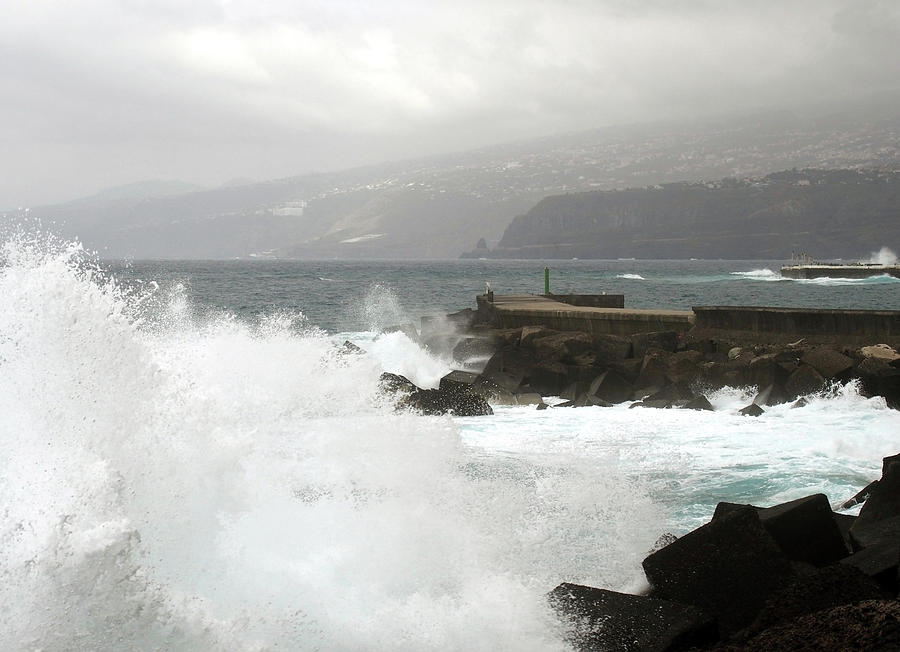 stormy weather and waves tenerife by Philip Openshaw