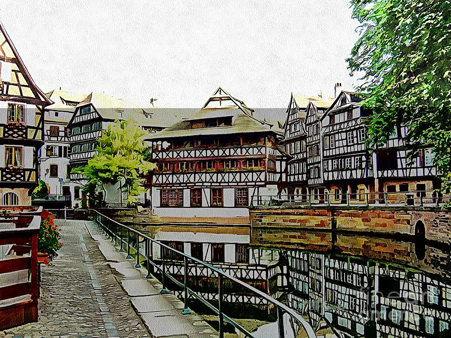 Strasbourg - La Petite France - Watercolor by Joseph Hendrix