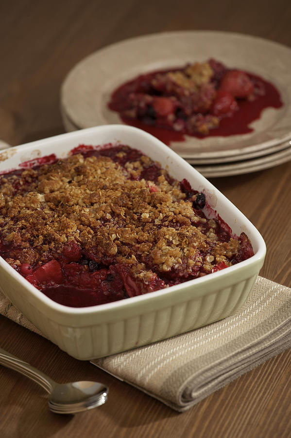 Strawberry cobbler Photograph by Jupiterimages