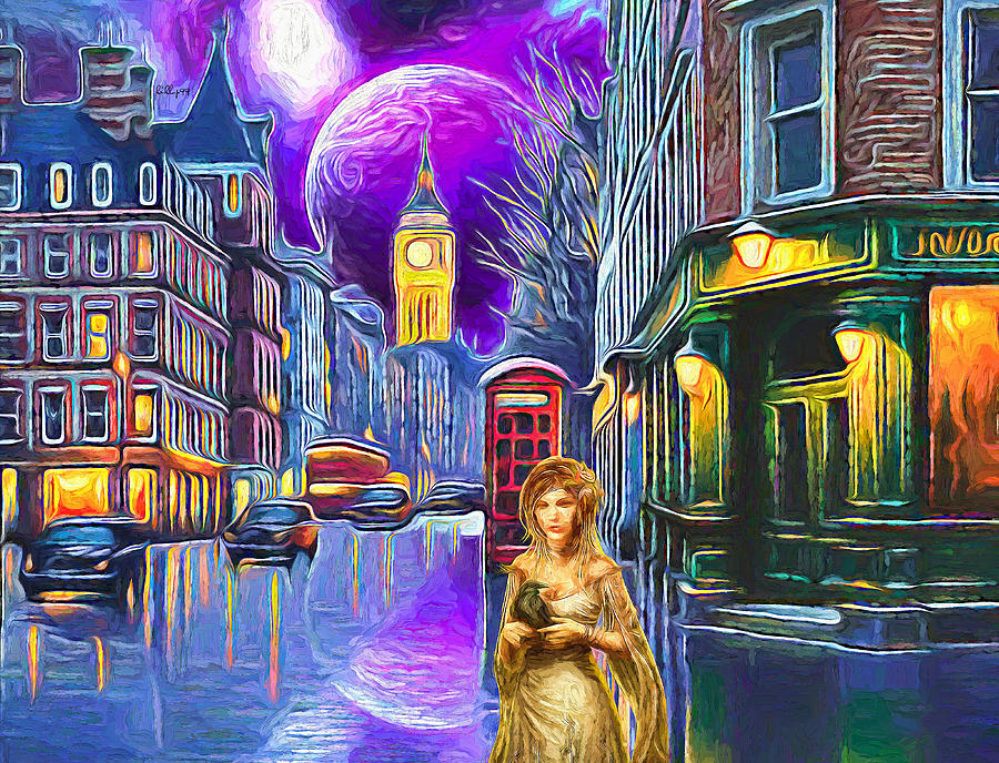 Street Magic In London Painting