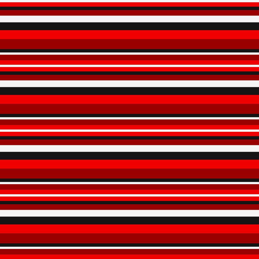 Stripe BlackWhiteRed by Max Coffey