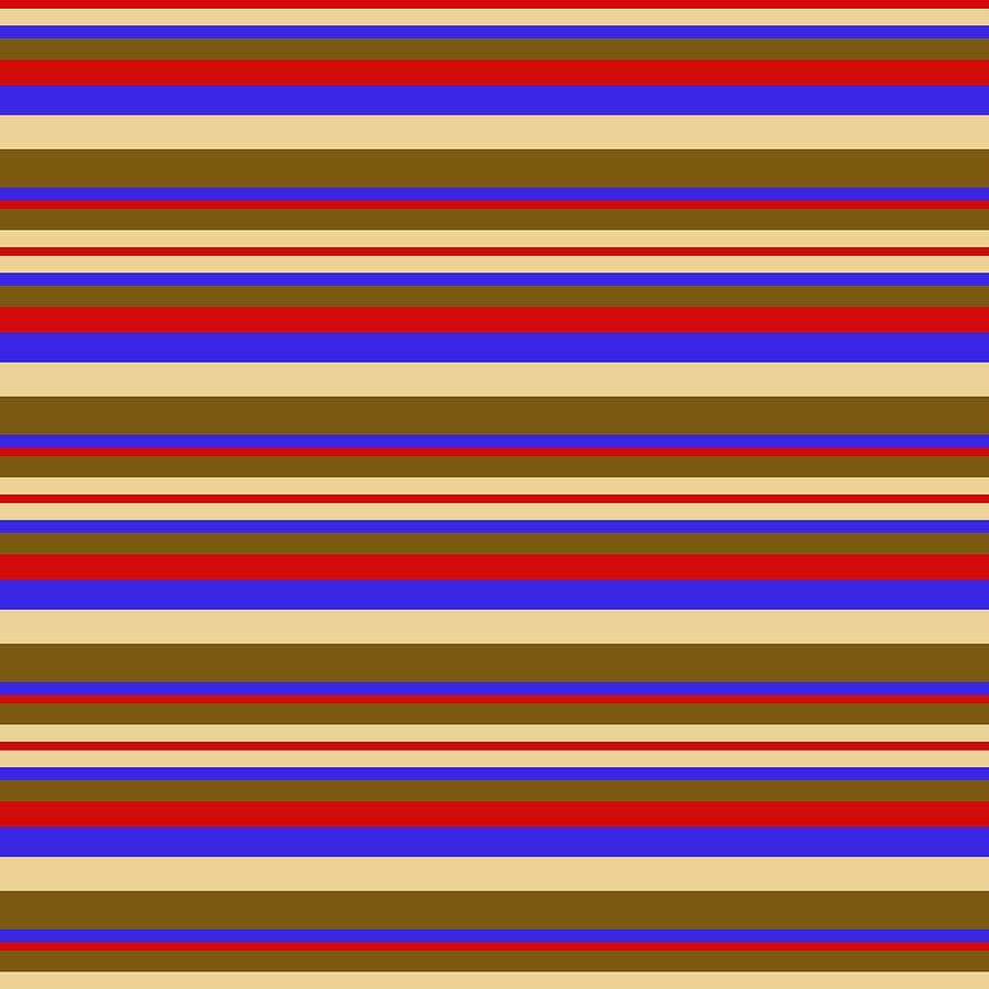 Stripe DenimRedBeigeBrown by Max Coffey
