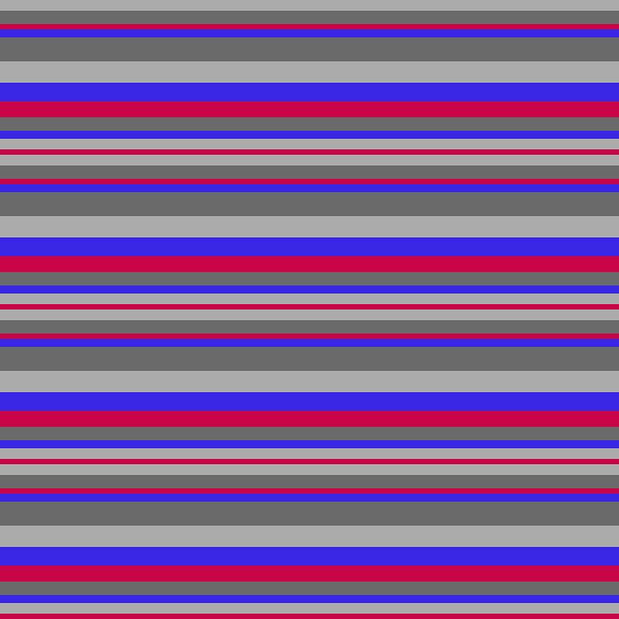 Stripe DenimRedGray by Max Coffey