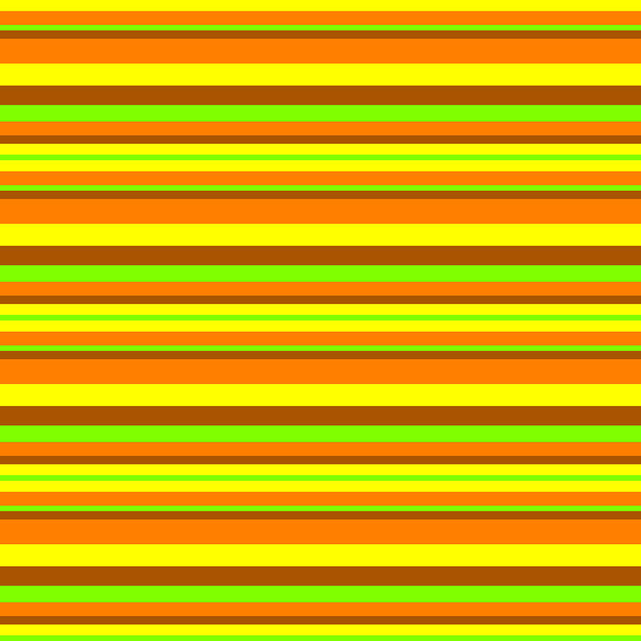 Stripe GreenYellowOrangeBrown by Max Coffey