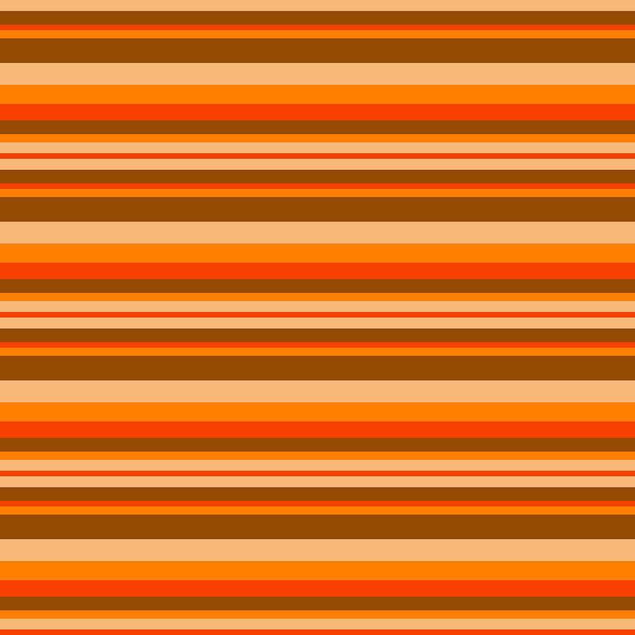 Stripe RedOrangeBeigeBrown by Max Coffey