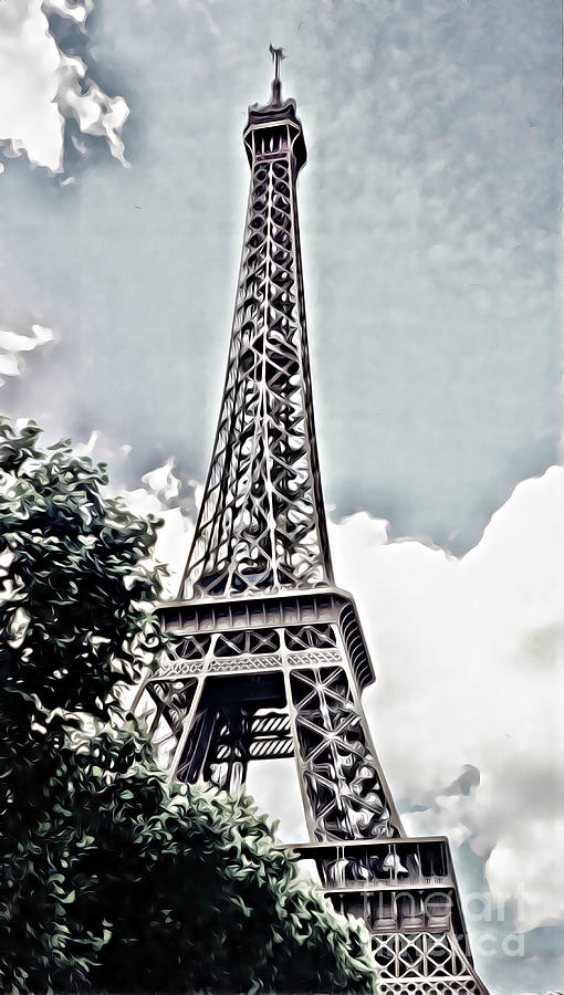 Strolling toward the Eiffel Tower by Tracy Ruckman
