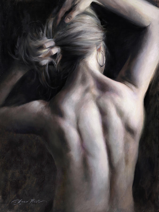 Back Painting - Stronger Than Yesterday by Anna Rose Bain