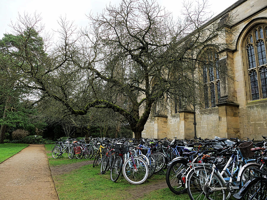 Students Parked Their Bicycles In The Church Photograph