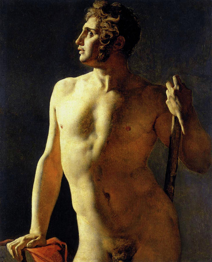 Study of a Male Nude by Jean Auguste Dominique Ingres