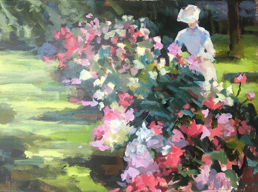 Study Of Peonies II Painting