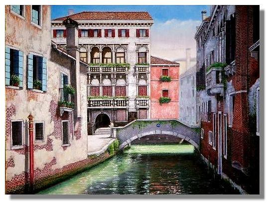 Venice Painting - Studying In Venice by I Joseph