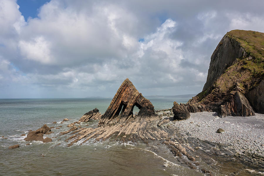 Stunning Aerial Drone Flying Landscape Image Of Blackchurch Rock Photograph
