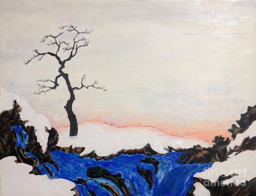 Japanese Artist Painting - Stunning bleak midwinter art of Northern Japan by Sawako Utsumi