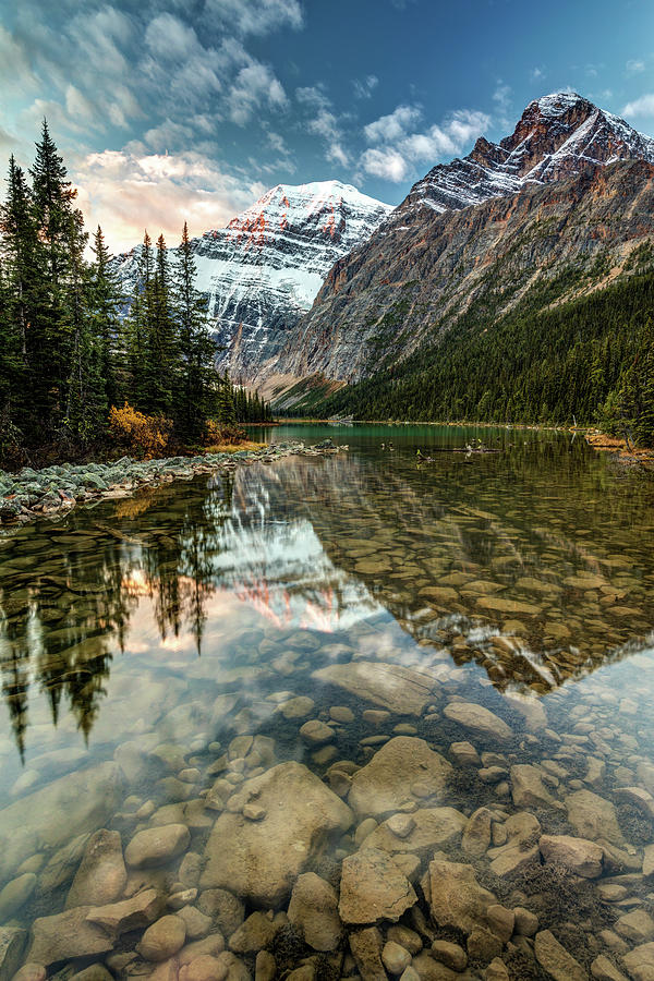Stunning Lakes Mountains And Glaciers Photograph