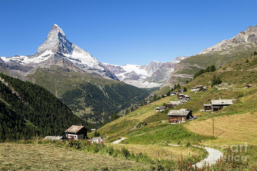 Stunning view of the Matterhorn peak above Zermatt in the Swiss  by Didier Marti
