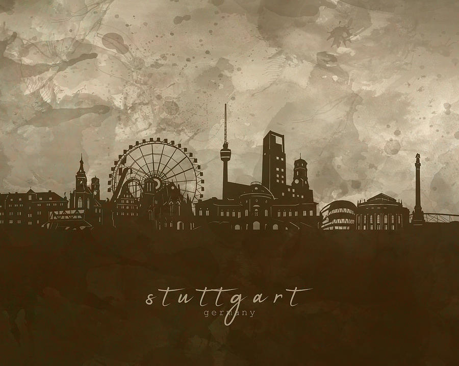 Stuttgart Skyline Panorama 4 Digital Art