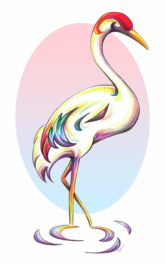 Stylized Crane by Sipporah Art and Illustration