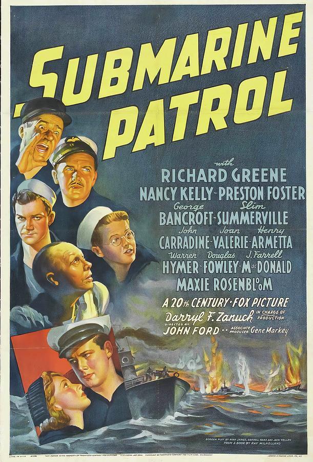 submarine Patrol, 1938 Mixed Media