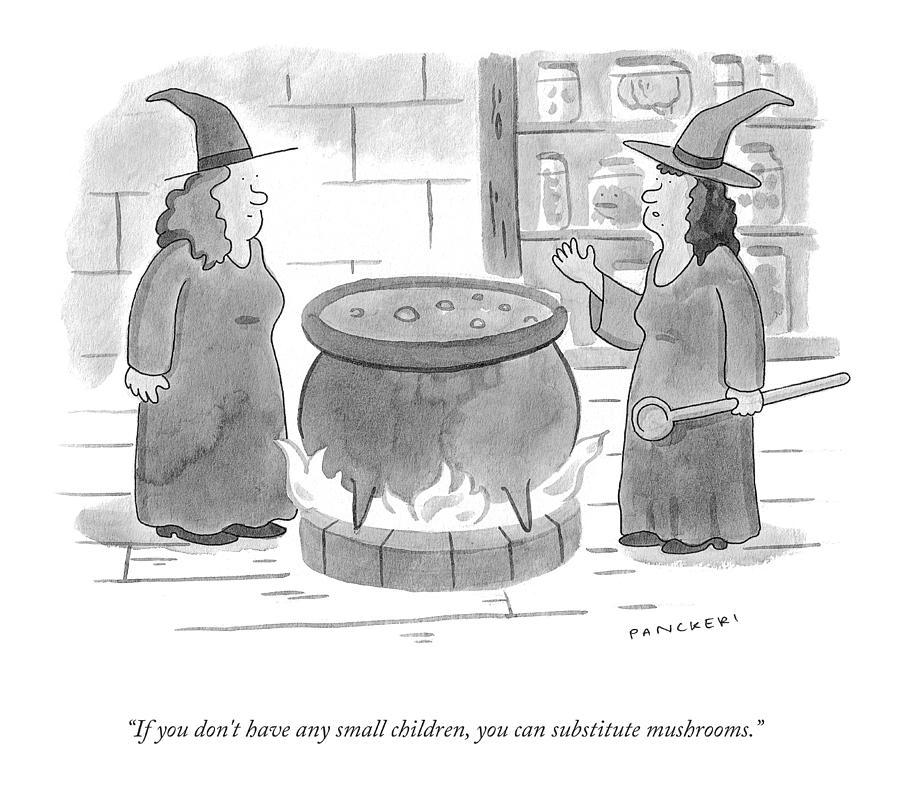 Substitute Mushrooms Drawing by Drew Panckeri