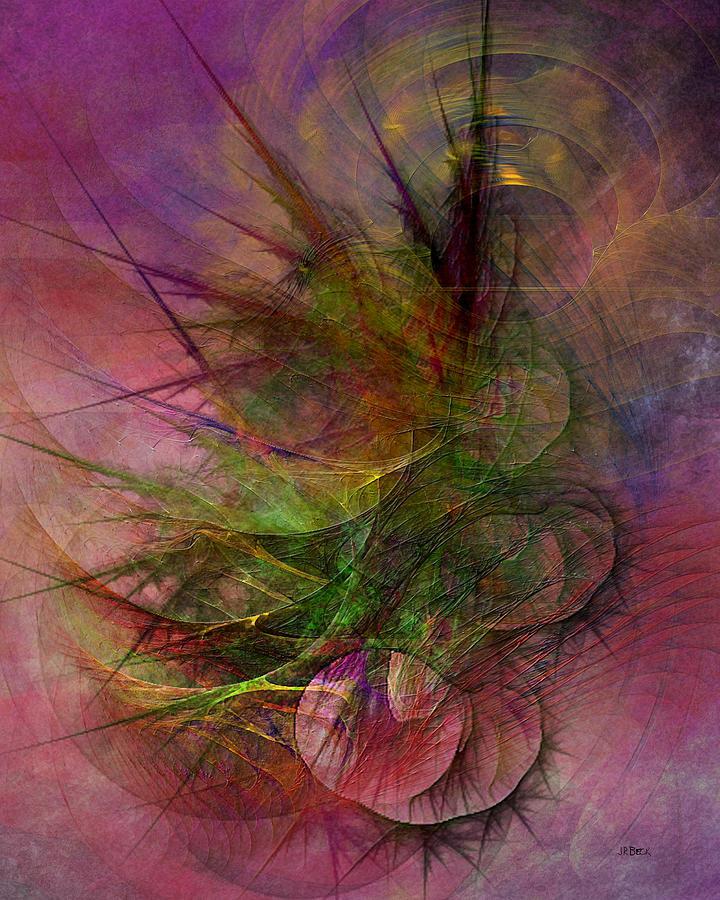 Abstract Digital Art - Subtle Echoes by John Robert Beck