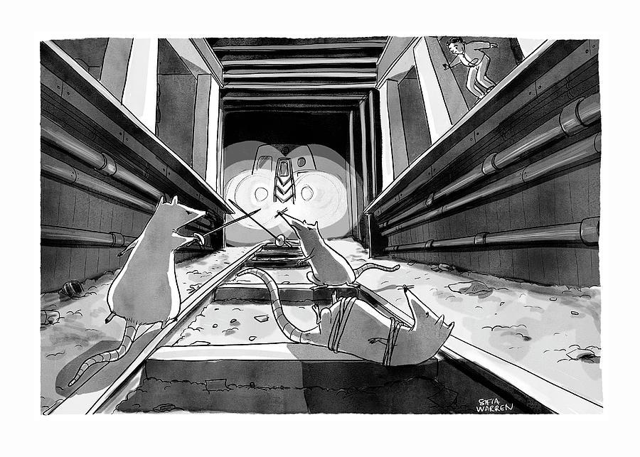Subway Rats Drawing by Sofia Warren