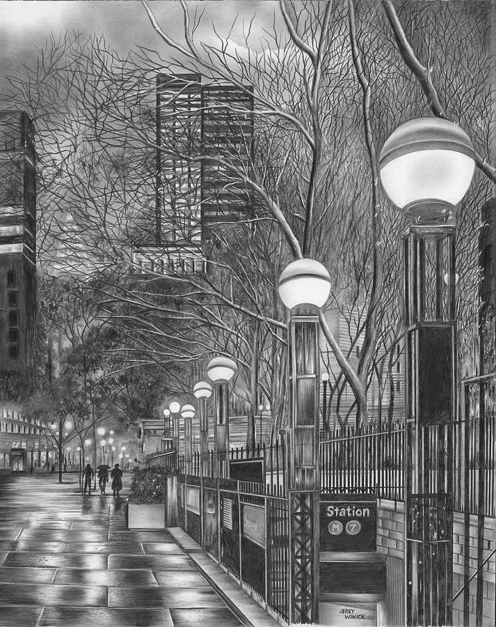 Subway Station Drawing
