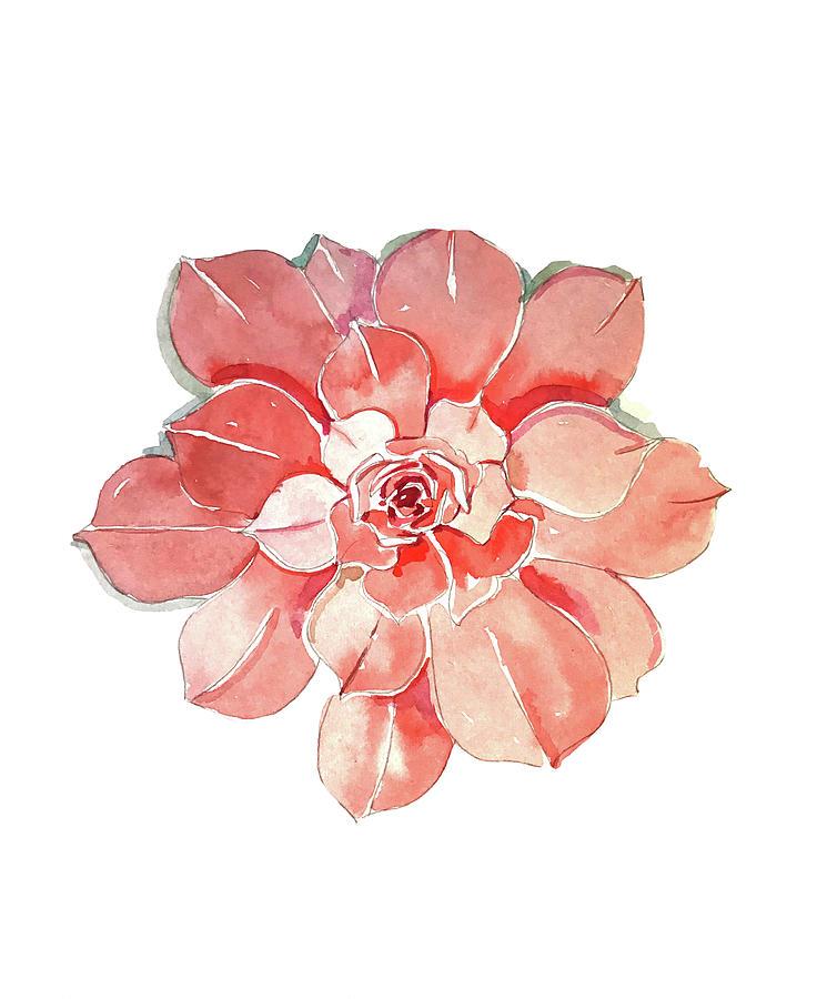 Succelent Rose Mask Painting