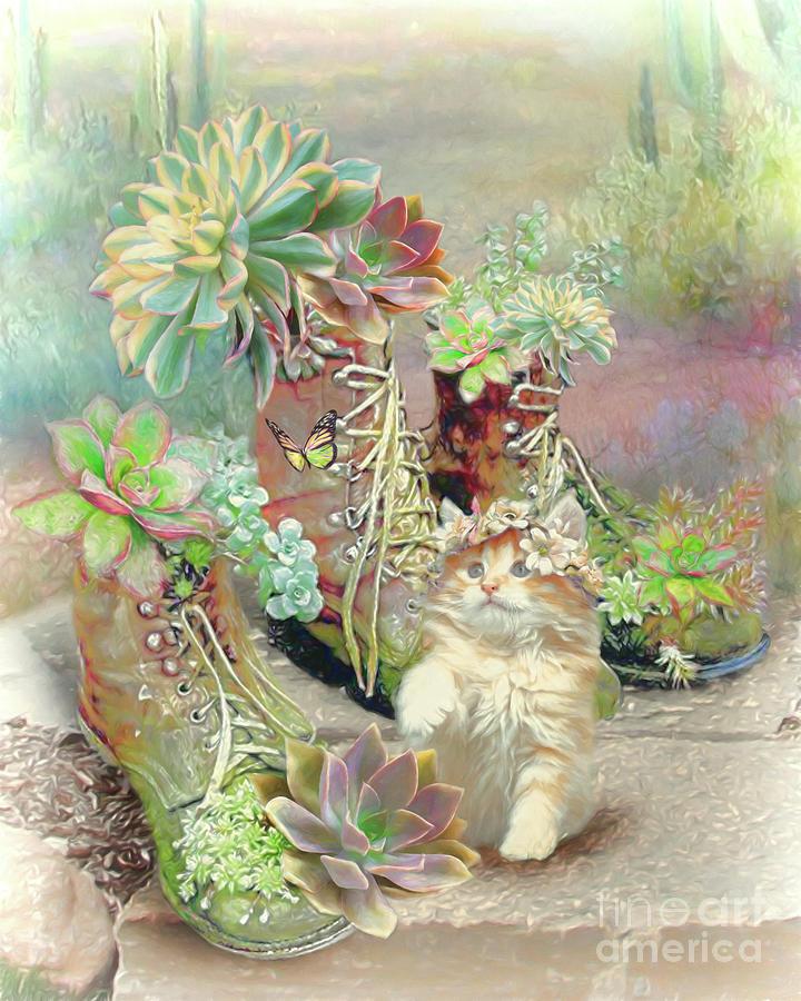 Succulent Love Digital Art