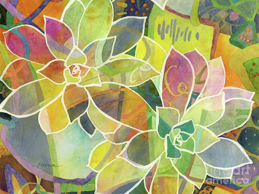 Succulent Mirage 1-horizontal Painting
