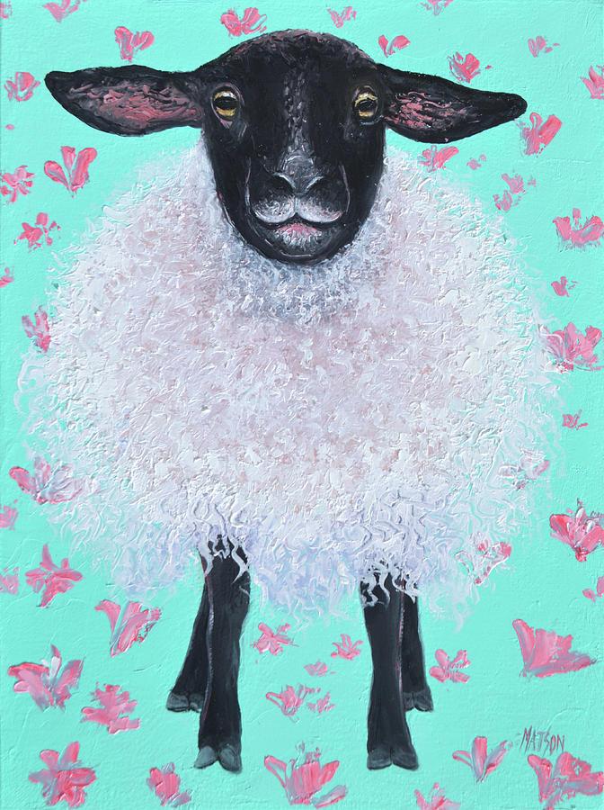 Suffolk Sheep, Saffron Painting
