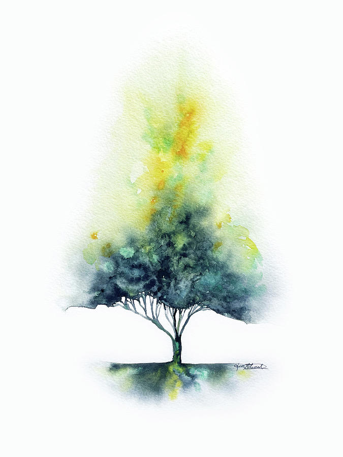 Trees Painting - Suffuse #2 by Kelly Edwards