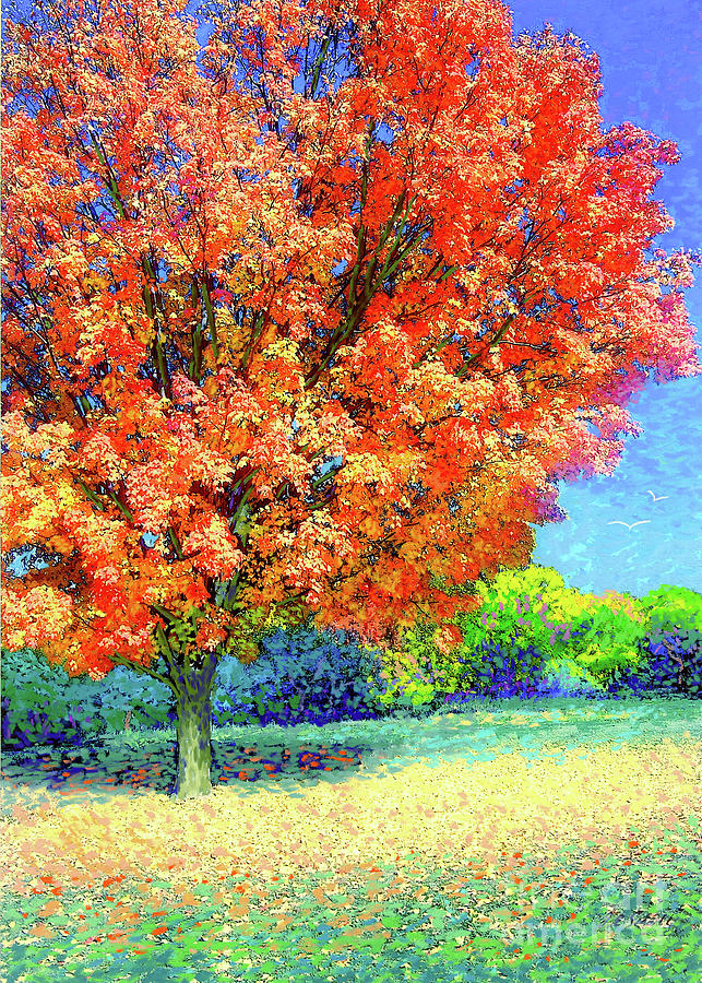 Landscape Painting - Sugar Maple Sunshine by Jane Small