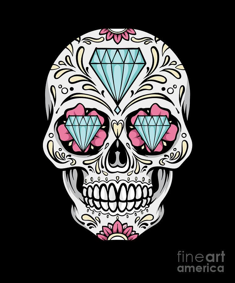 Sugar Skull Diamond United Kingdom Uk Skull Digital Art By Thomas Larch