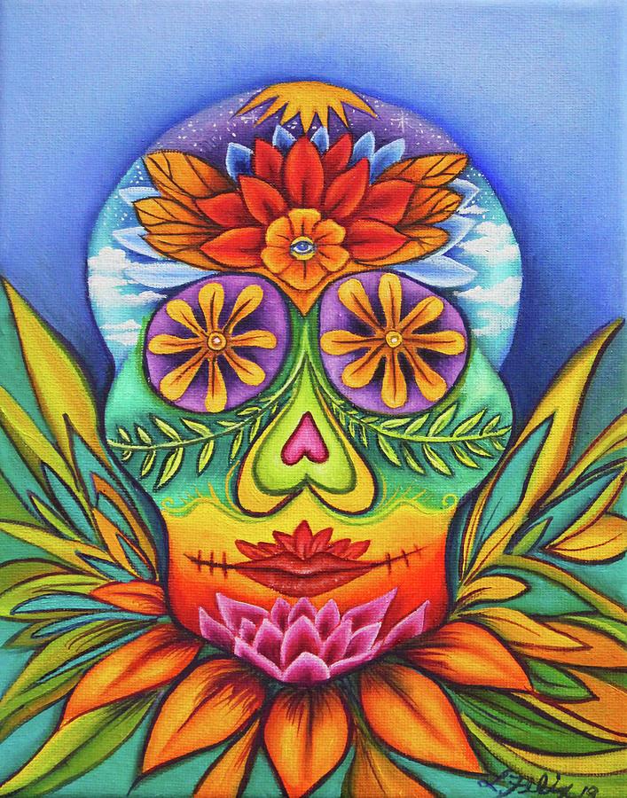 Sugar Skull Painting - Sugar Skull by Lori Felix