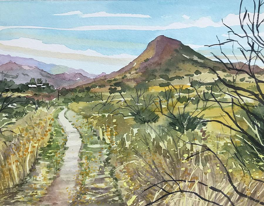 Paramount Painting - SugarLoaf from Paramount Trail by Luisa Millicent