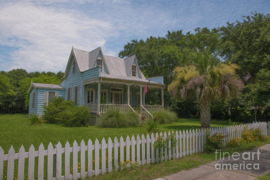 Sullivans Island Coastal Cottage - Charleston South Carolina Painting