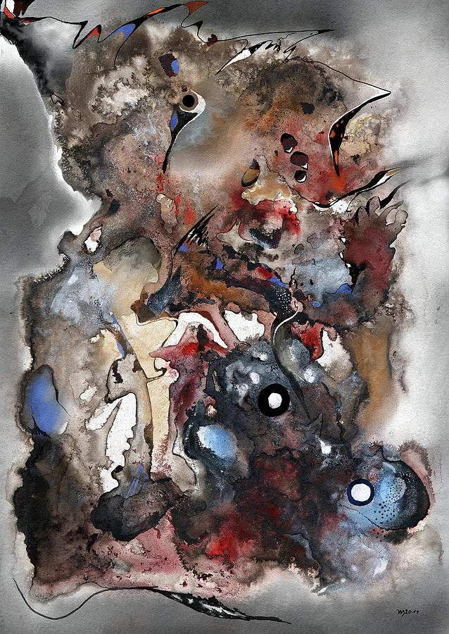 Inks Mixed Media - Sumboraste Aladim by Wolfgang Schweizer