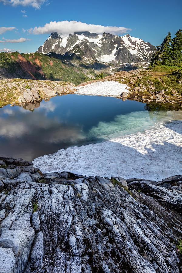 Summer Alpine Landscape At Mount Shuksan Photograph