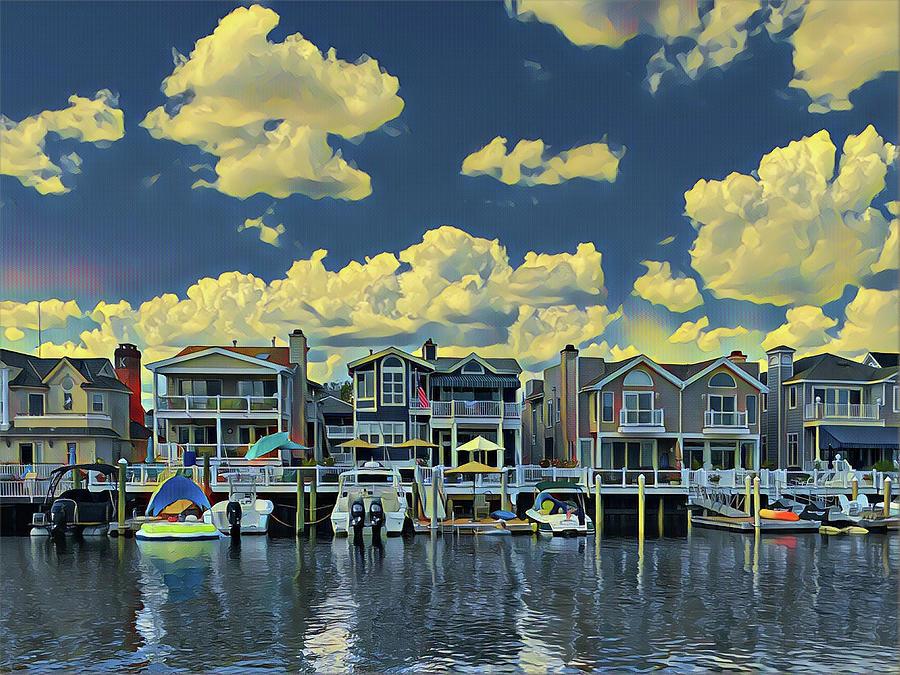 Summer Bayside Living Digital Art