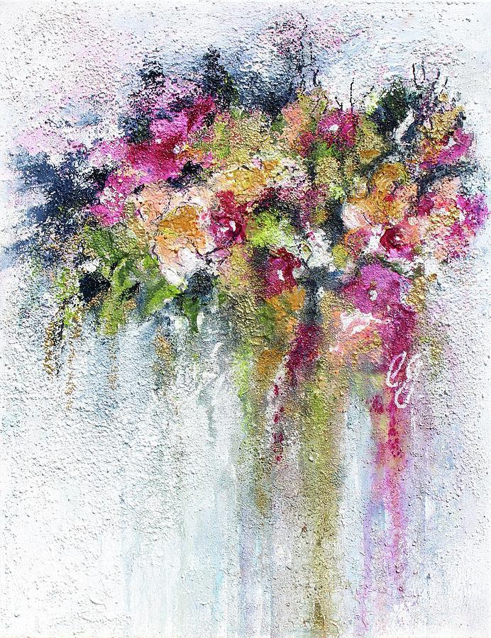 Flowers Mixed Media - Summer bloom by Claudia Gantenbein