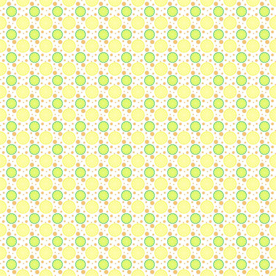 Lemon Digital Art - Summer Citrus by Eva Hawk