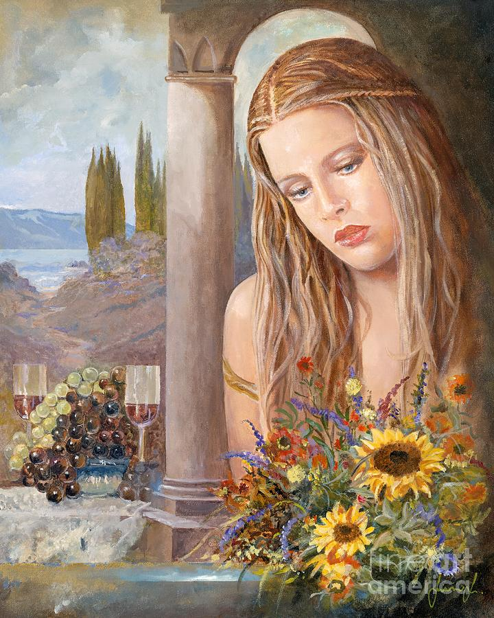 Portrait Painting - Summer Day by Sinisa Saratlic