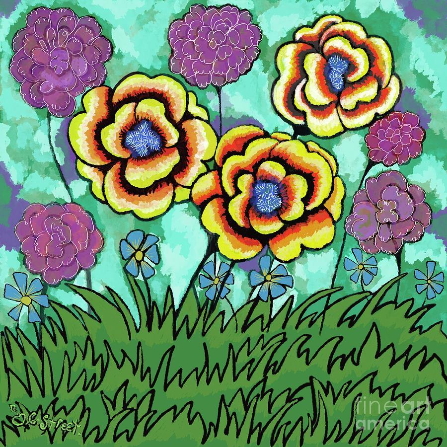 Summer Flowers Digital Art