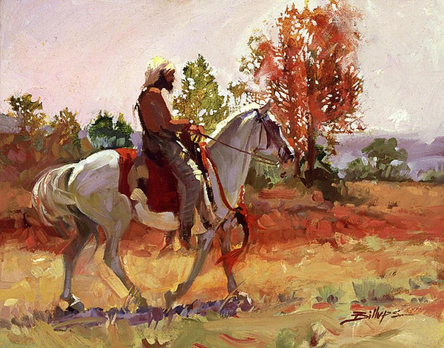 Mountain Men Painting - Summer Heat by Betty Jean Billups