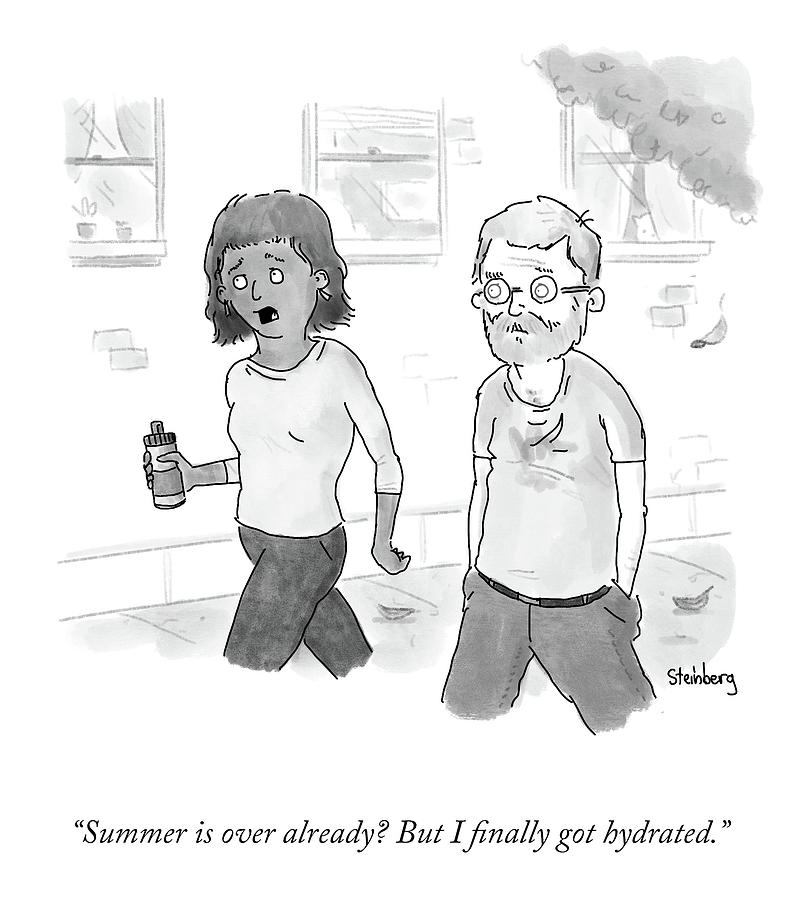 Summer Drawing - Summer Is Over Already? by Avi Steinberg