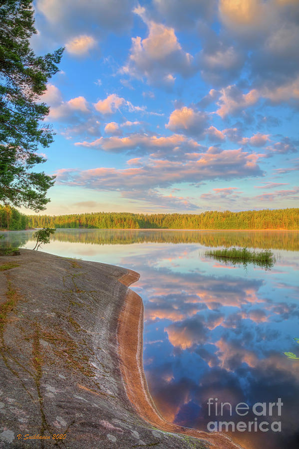 Atmosphere Photograph - Summer morning at 06.07 by Veikko Suikkanen