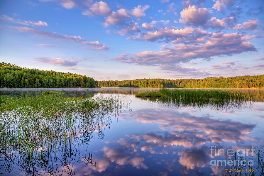 Atmosphere Photograph - Summer morning at 06.08 by Veikko Suikkanen