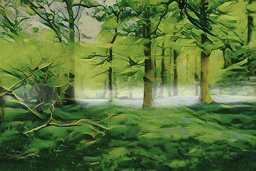 Summer Morning MIst by Digital Painting