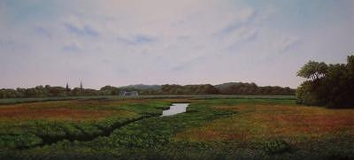 Landscape Drawing - Summer On Cape Cod by Anthony Petchkis